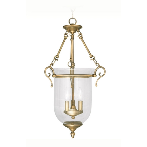 Livex Lighting Livex Lighting Legacy Antique Brass Pendant Light 5025-01
