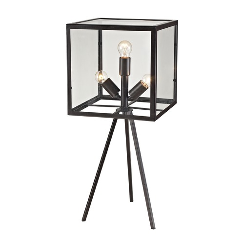 Dimond Lighting Dimond Lighting Aged Bronze Table Lamp with Square Shade D2658