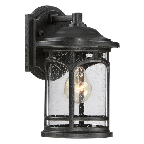 Quoizel Lighting Seeded Glass Outdoor Wall Light Black Quoizel Lighting MBH8407K