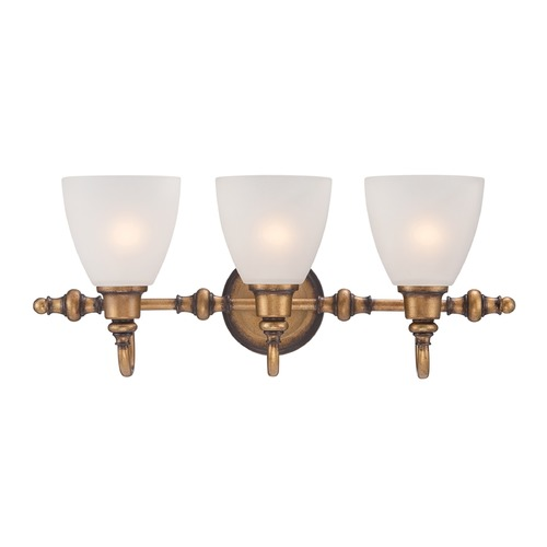 Designers Fountain Lighting Designers Fountain Isla Aged Brass Bathroom Light 85603-ABS