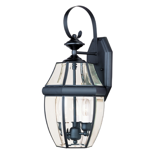 Maxim Lighting Outdoor Wall Light with Clear Glass in Black Finish 4191CLBK