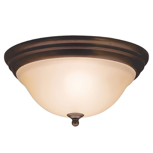 Kichler Lighting Kichler Flushmount Light with Alabaster Glass in Olde Bronze Finish 8076OZ