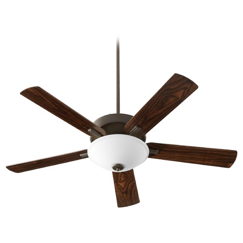 Quorum Lighting Quorum Lighting Premier Oiled Bronze LED Ceiling Fan with Light 54525-86