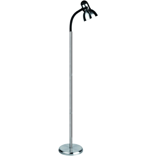 Lite Source Lighting Lite Source Lighting Henrik Floor Lamp with Bowl / Dome Shade LS-8530PS/BLK