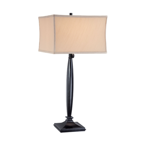 Lite Source Lighting Lite Source Lighting Cailyn Dark Bronze Table Lamp with Square Shade LS-21840