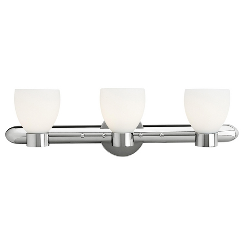Access Lighting Modern Bathroom Light with White Glass in Chrome Finish 23903-CH/OPL