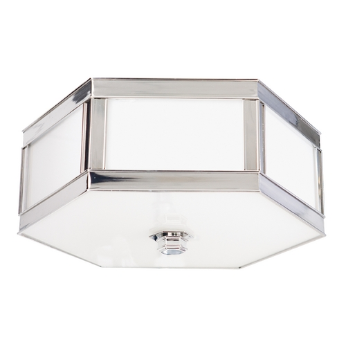 Hudson Valley Lighting Flushmount Light with White Glass in Polished Nickel Finish 6413-PN