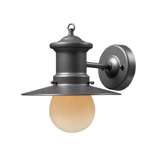 Elk Lighting Outdoor Wall Light with Amber Glass in Graphite Finish 42405/1