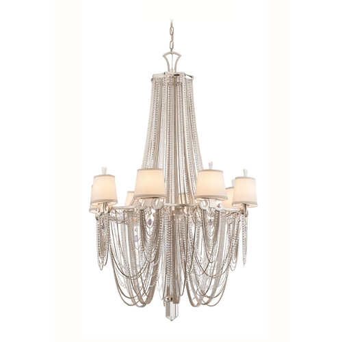 Corbett Lighting Chandelier Light with Crystal Draped Beaded Jewelry Accents - 9 Lights 157-08