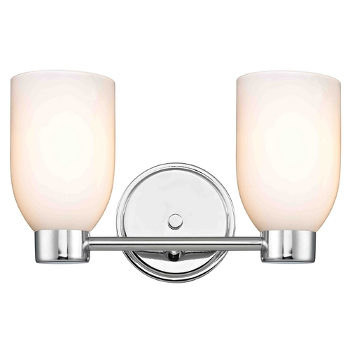 Design Classics Lighting Aon Fuse Chrome Bathroom Light 1802-26 GL1024D