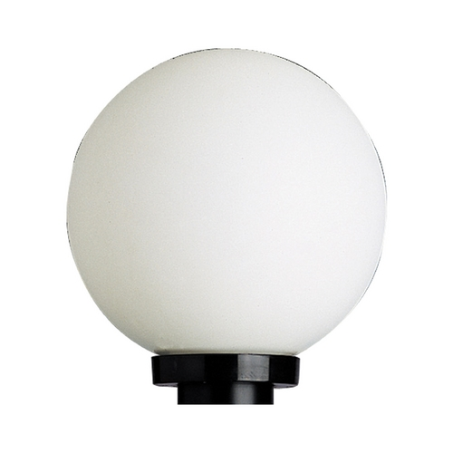 Progress Lighting Progress Globe Post Light with White Plastic and Black Finish P5478-60