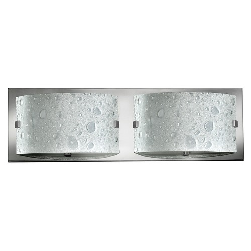 Hinkley Lighting Modern Bathroom Light with Bubble Art Glass in Chrome Finish 5922CM