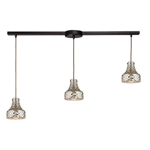 Elk Lighting Multi-Light Pendant Light with Mercury Glass and 3-Lights 46023/3L