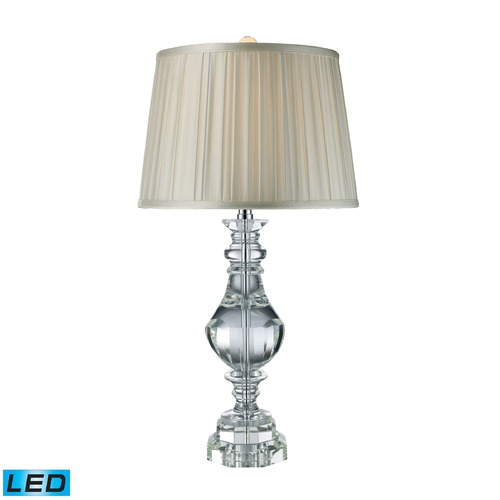 Dimond Lighting Dimond Lighting Clear Crystal LED Table Lamp with Empire Shade D1812-LED