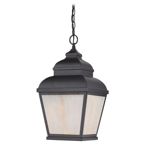 Minka Lavery Seeded Glass LED Outdoor Hanging Light Black Minka Lavery 8264-66-L