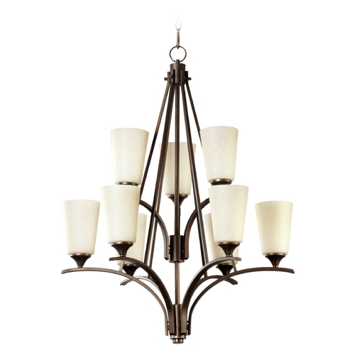 Quorum Lighting Quorum Lighting Winslet Ii Oiled Bronze Chandelier 6129-9-186