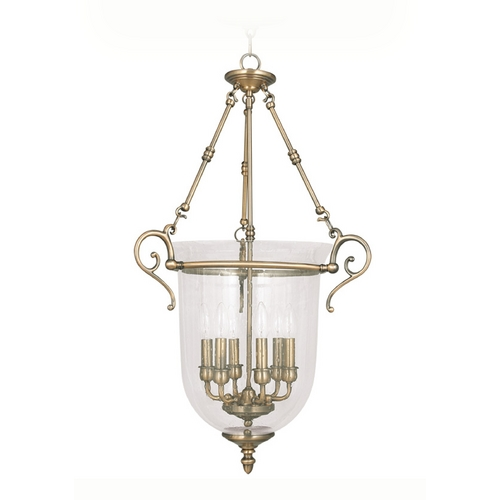 Livex Lighting Livex Lighting Legacy Antique Brass Pendant Light 5026-01