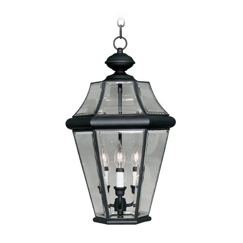 Livex Lighting Livex Lighting Georgetown Black Outdoor Hanging Light 2365-04