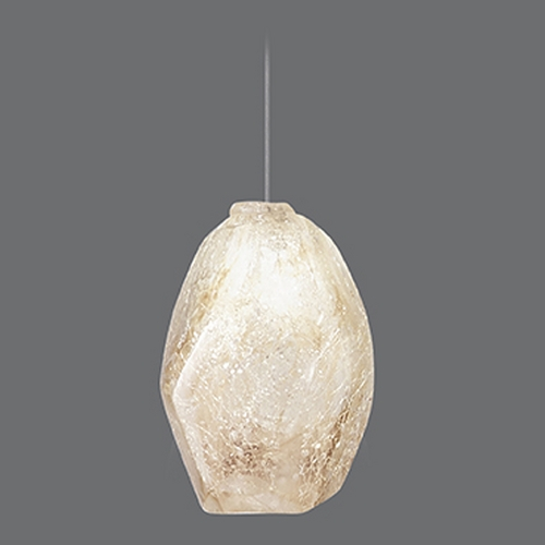 Fine Art Lamps Fine Art Lamps Natural Inspirations Gold-Toned Silver Leaf Mini-Pendant Light 851840-28ST