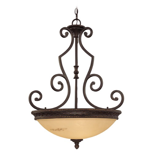 Savoy House Savoy House Antique Copper Pendant Light with Bowl / Dome Shade 7P-50202-3-16