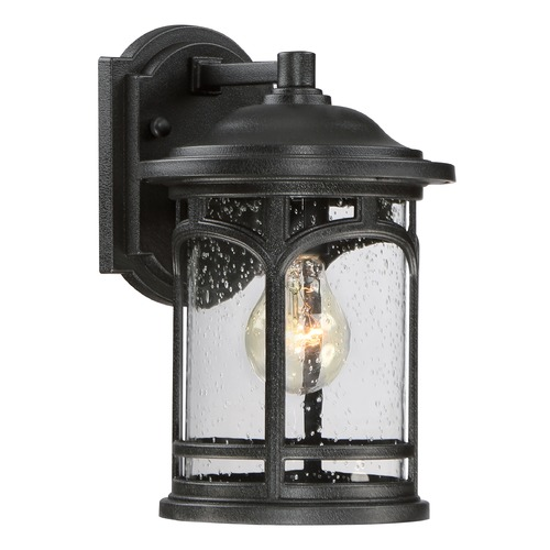 Quoizel Lighting Quoizel Marblehead Mystic Black Outdoor Wall Light MBH8407KFL