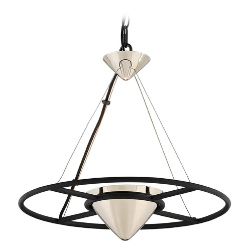 Troy Lighting Troy Lighting Zero Gravity Carbide Black and Polished Nickel LED Pendant Light with Conical Shade FL4815
