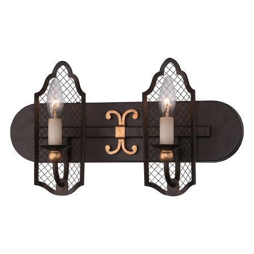 Metropolitan Lighting Metropolitan Cortona French Bronze W/ Gold Highligh Bathroom Light N2712-258B