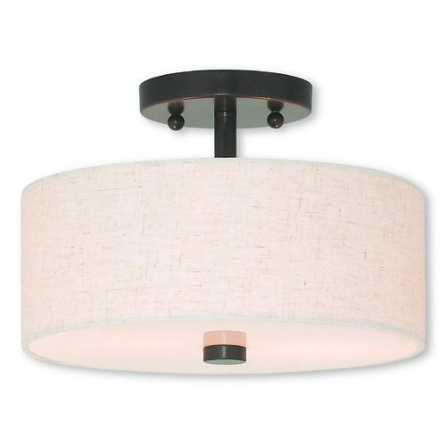 Livex Lighting Livex Lighting Meridian English Bronze Semi-Flushmount Light 52133-92