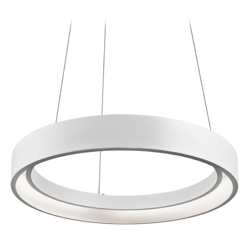 Elan Lighting Elan Lighting Fornello Sand Textured White LED Pendant Light 83452