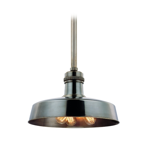 Hudson Valley Lighting Modern Pendant Light in Green Aged Brass Finish 8618-GAGB