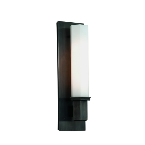 Hudson Valley Lighting Bathroom Light with White Glass in Old Bronze Finish 320-OB