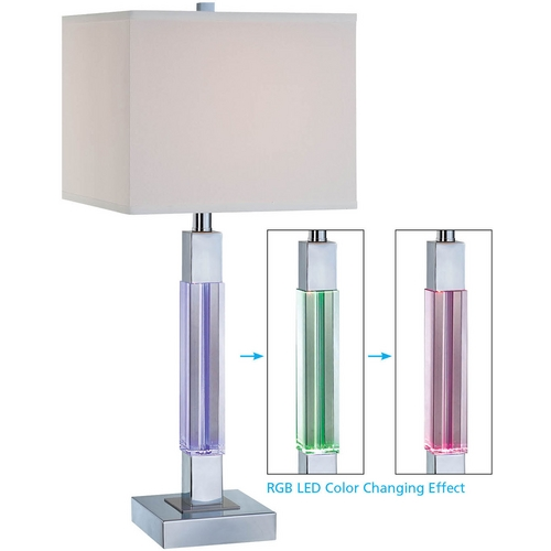 Lite Source Lighting Lite Source Lighting Fidelio Chrome Table Lamp with Bell Shade LS-21826