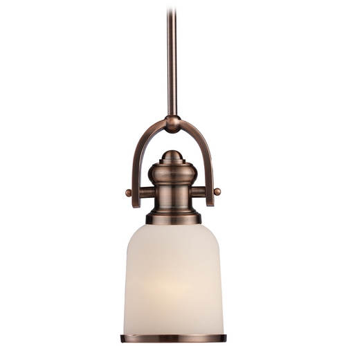 Elk Lighting Mini-Pendant Light with White Glass 66181-1