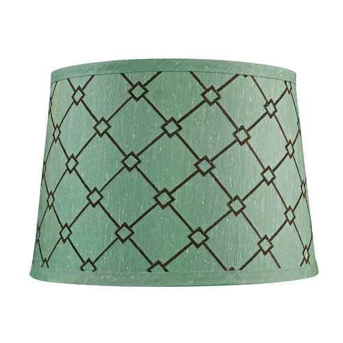 Dolan Designs Lighting Green / Brown Patterned Drum Lamp Shade with Spider Assembly 140100