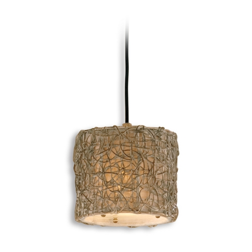 Uttermost Lighting Mini-Pendant Light with Brown Wicker Shade 21837