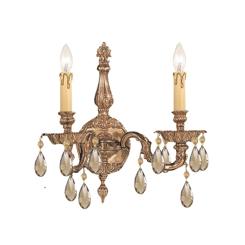 Crystorama Lighting Sconce Wall Light in Olde Brass Finish 2502-OB-GT-MWP