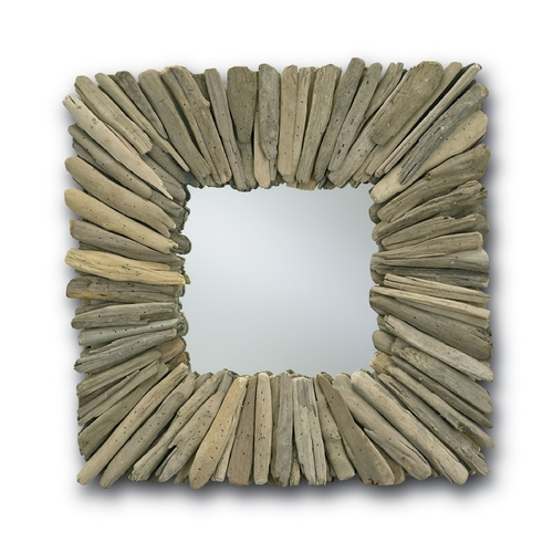 Currey and Company Lighting Beachhead Square 21-Inch Mirror 1030