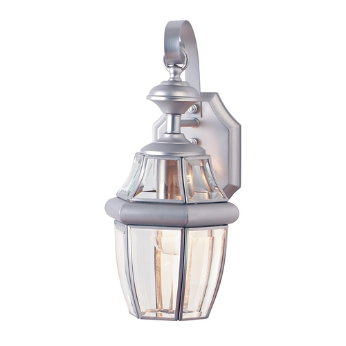 Design Classics Lighting Outdoor Wall Light with Clear Glass 98130 SN
