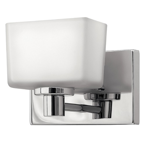 Hinkley Lighting Sconce with White Glass in Chrome Finish 5020CM