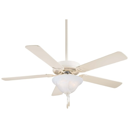 Minka Aire Minka Aire Fans Contractor Uni-Pack Bone White Ceiling Fan with Light F548-BWH