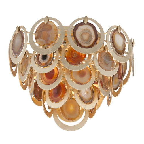 Corbett Lighting Corbett Lighting Rock Star Gold Leaf Flushmount Light 190-34