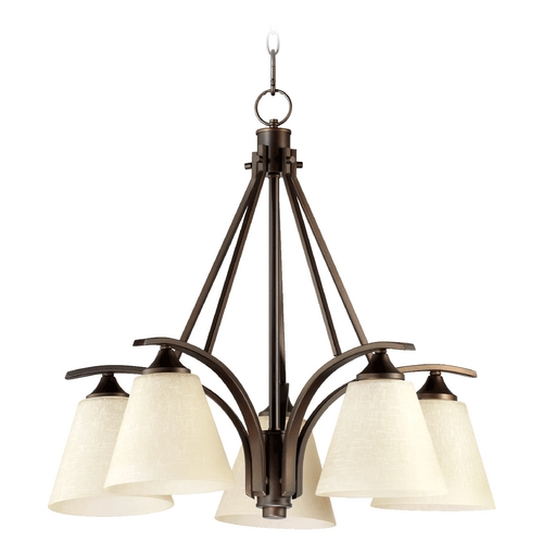 Quorum Lighting Quorum Lighting Winslet Ii Oiled Bronze Chandelier 6329-5-186