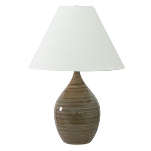 House of Troy Lighting House Of Troy Scatchard Tiger's Eye Table Lamp with Conical Shade GS400-TE