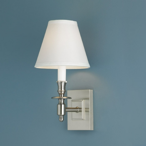 Norwell Lighting Norwell Lighting Weston Brush Nickel Sconce 5120-BN-WS