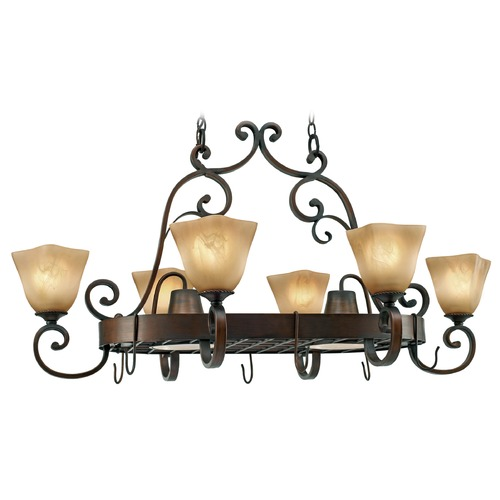 Golden Lighting Golden Lighting Meridian Golden Bronze Chandelier 3890-PR62 GB