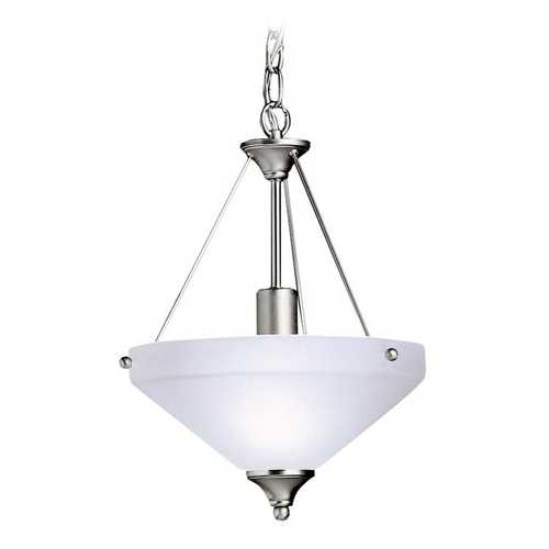 Kichler Lighting Kichler Pendant Light with Yellow Glass in Brushed Nickel Finish 3348NI