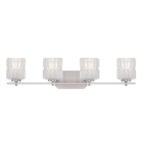 Designers Fountain Lighting Designers Fountain Valeta Satin Platinum Bathroom Light 67604-SP