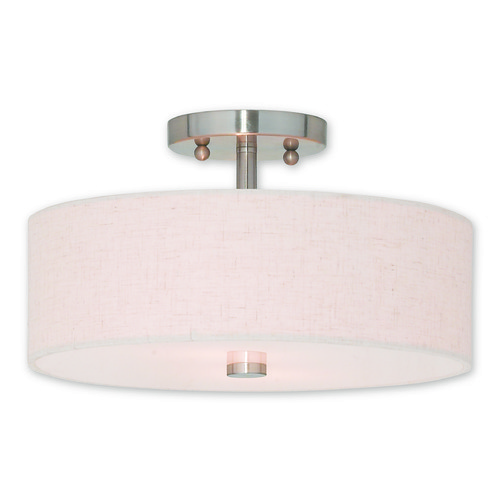 Livex Lighting Livex Lighting Meridian Brushed Nickel Semi-Flushmount Light 52134-91