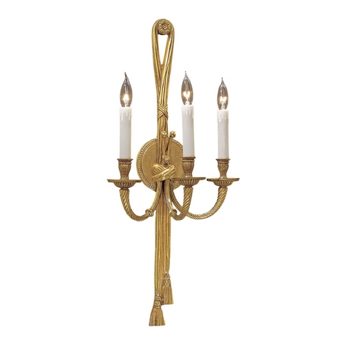 Metropolitan Lighting Sconce Wall Light in French Gold Finish N682