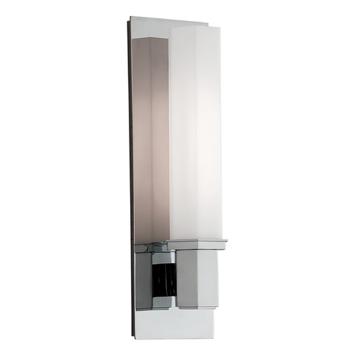 Hudson Valley Lighting Bathroom Light with White Glass in Polished Chrome Finish 320-PC